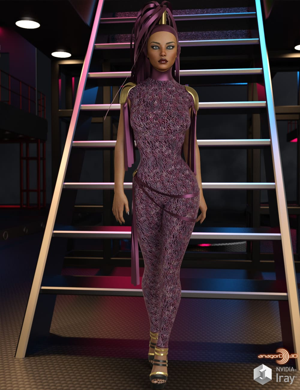 VERSUS – Mastermind dForce Outfit for Genesis 8 Females_DAZ3D下载站