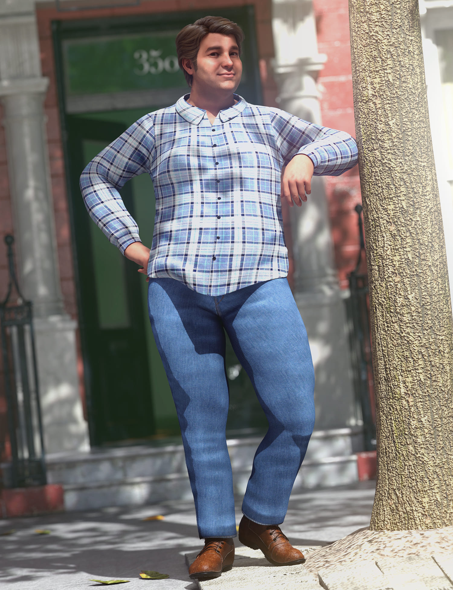 dForce Casual Flannel Outfit for Genesis 8.1 Male_DAZ3D下载站