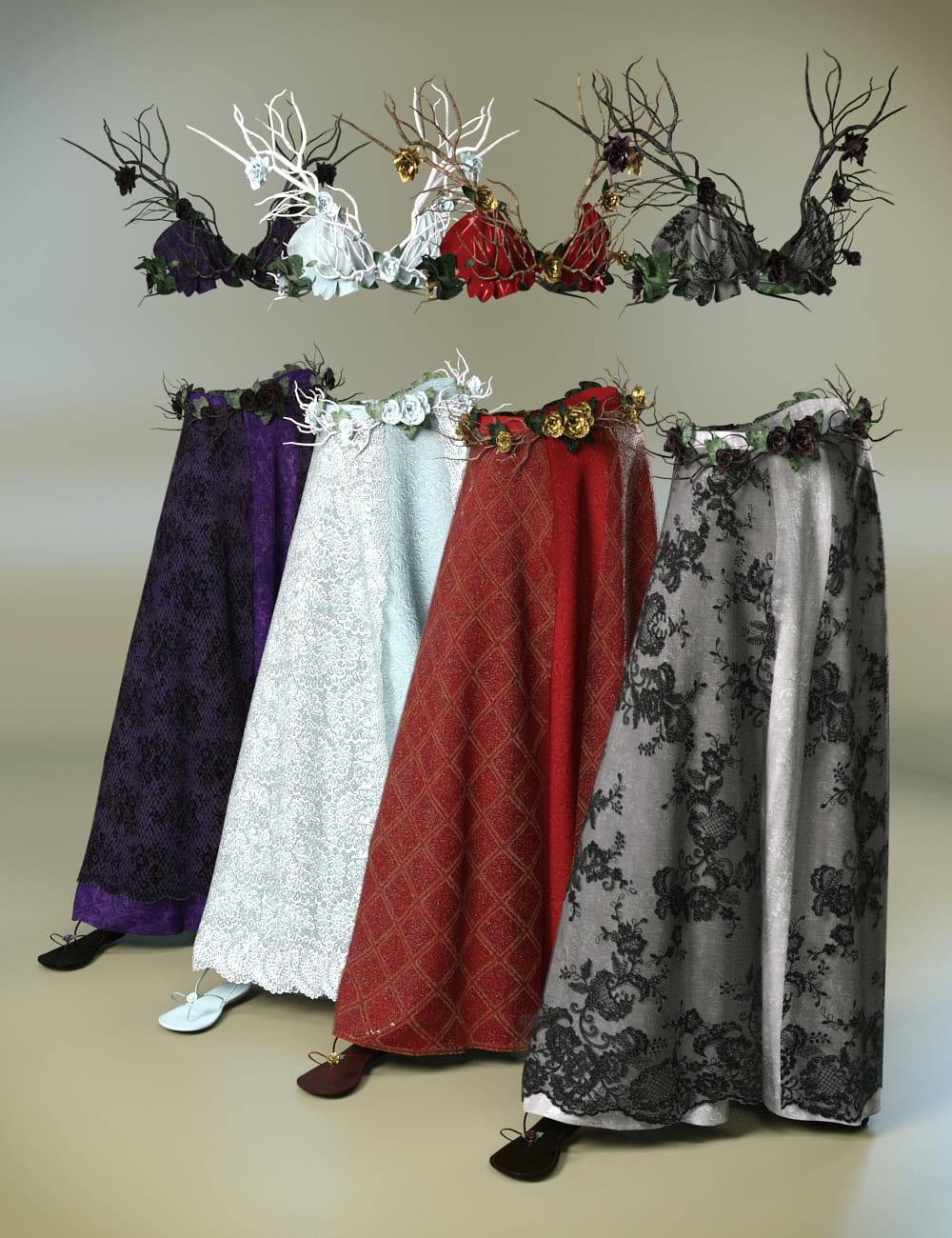 dForce Eternal Bloom Outfit Textures_DAZ3D下载站
