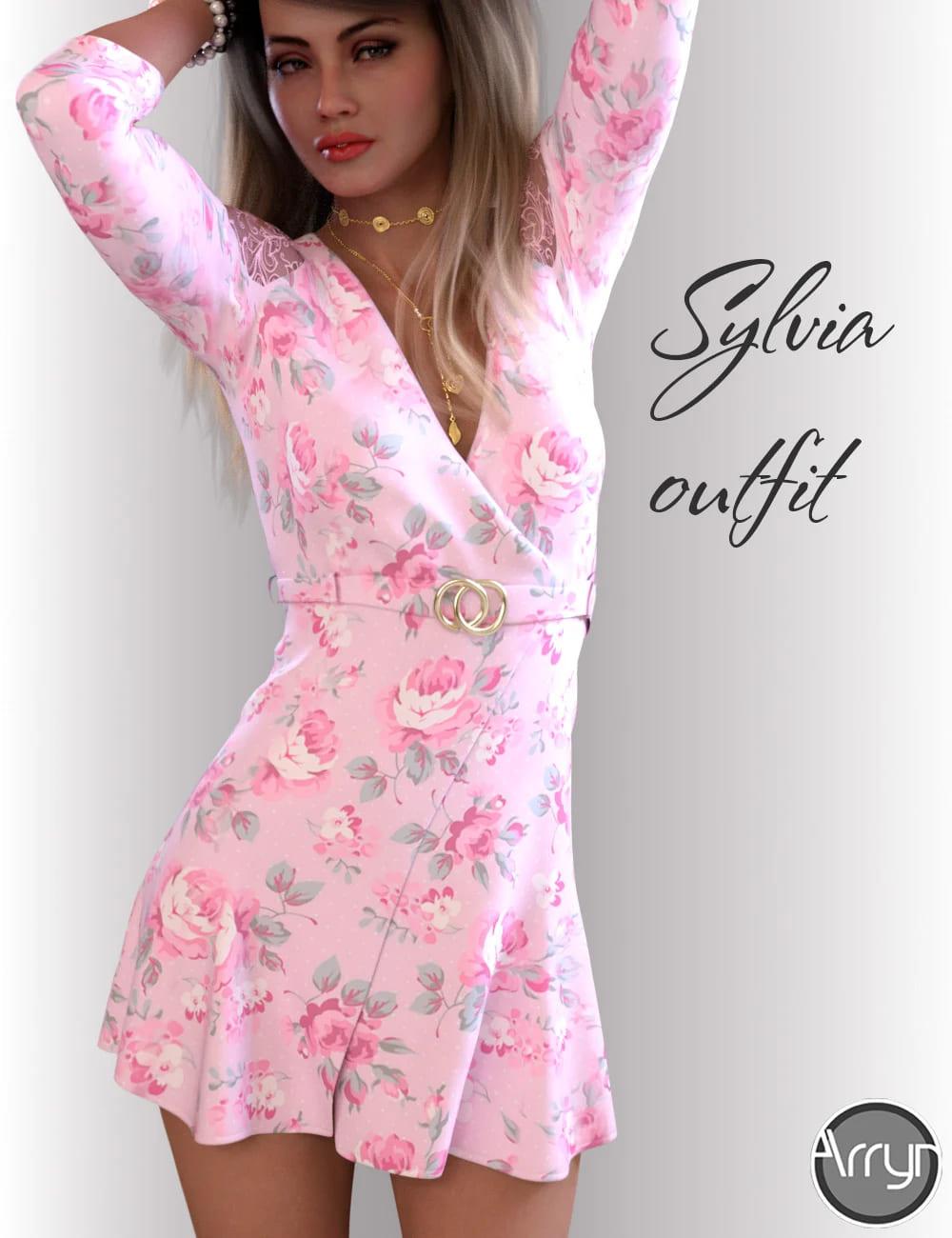 dForce Sylvia Outfit for Genesis 8 Female(s)_DAZ3D下载站