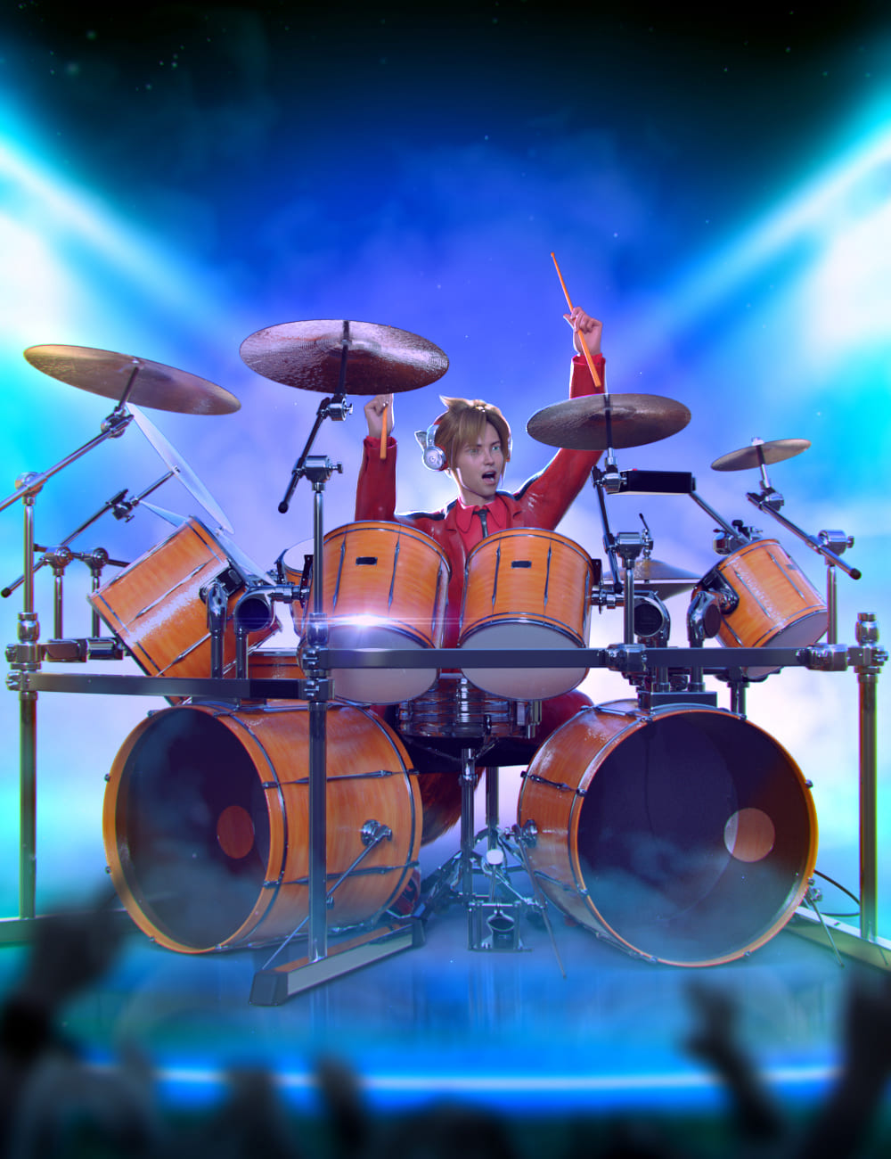 Drum Animations for Genesis 8.1 Male and Kota 8.1_DAZ3D下载站