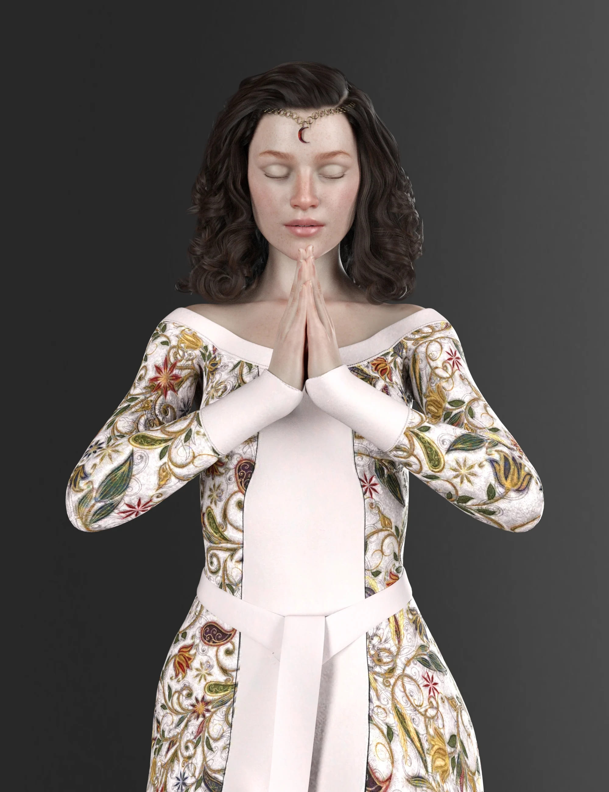 Nobility Textures for dForce Elven Dress_DAZ3D下载站