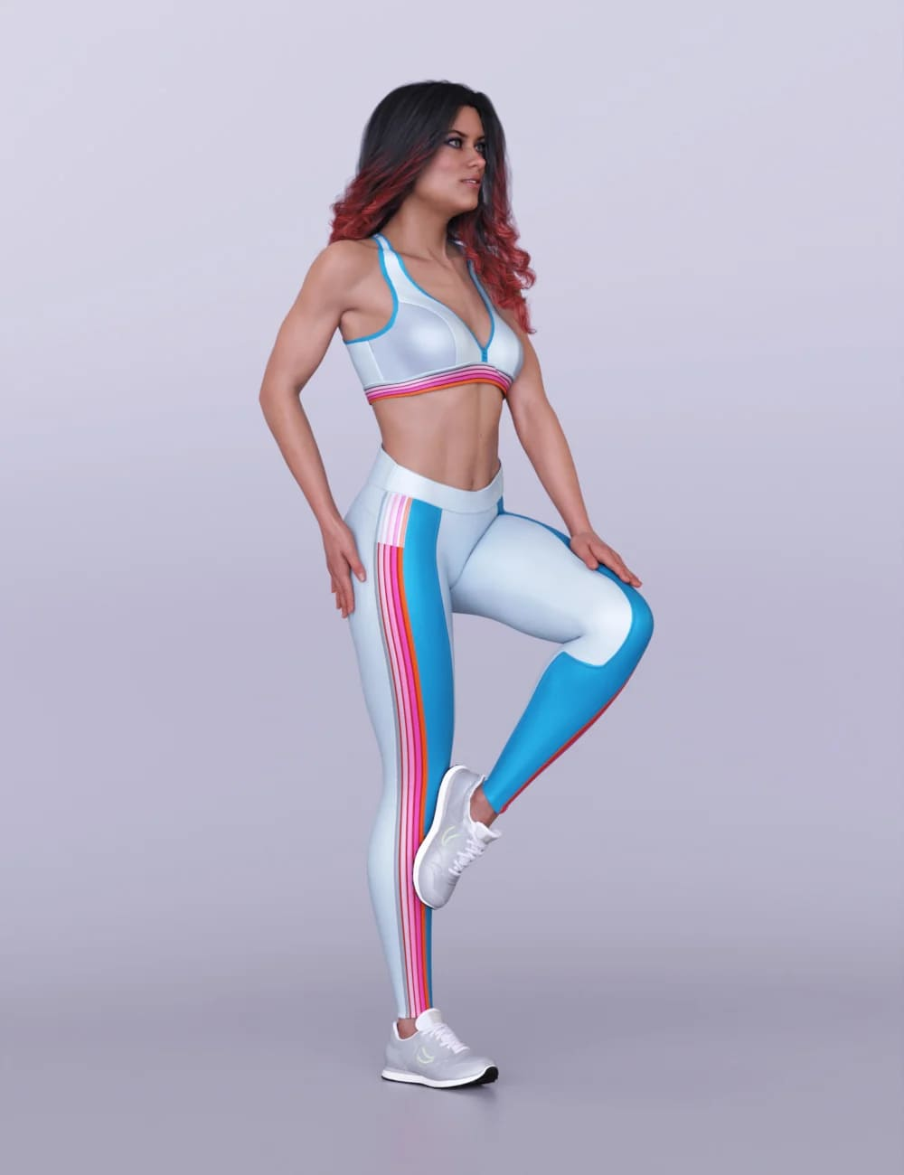 S3D Fitness Clothes for Genesis 8 Females_DAZ3D下载站