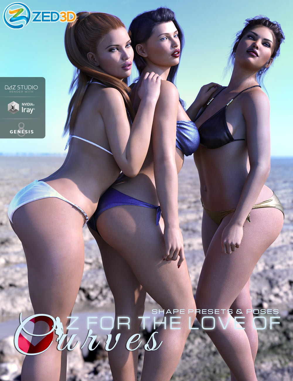 Z For the Love of Curves Shapes and Poses_DAZ3D下载站