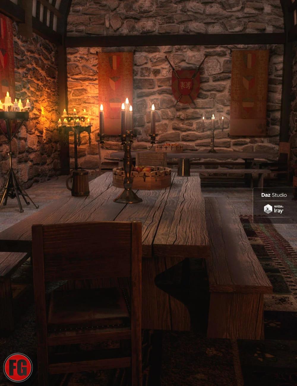 FG Medieval Dining Hall_DAZ3D下载站