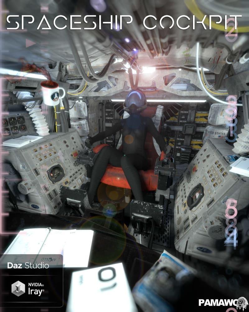 Spaceship Cockpit For DS_DAZ3D下载站