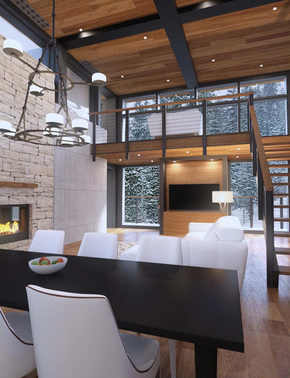 Cozy Winter House_DAZ3D下载站