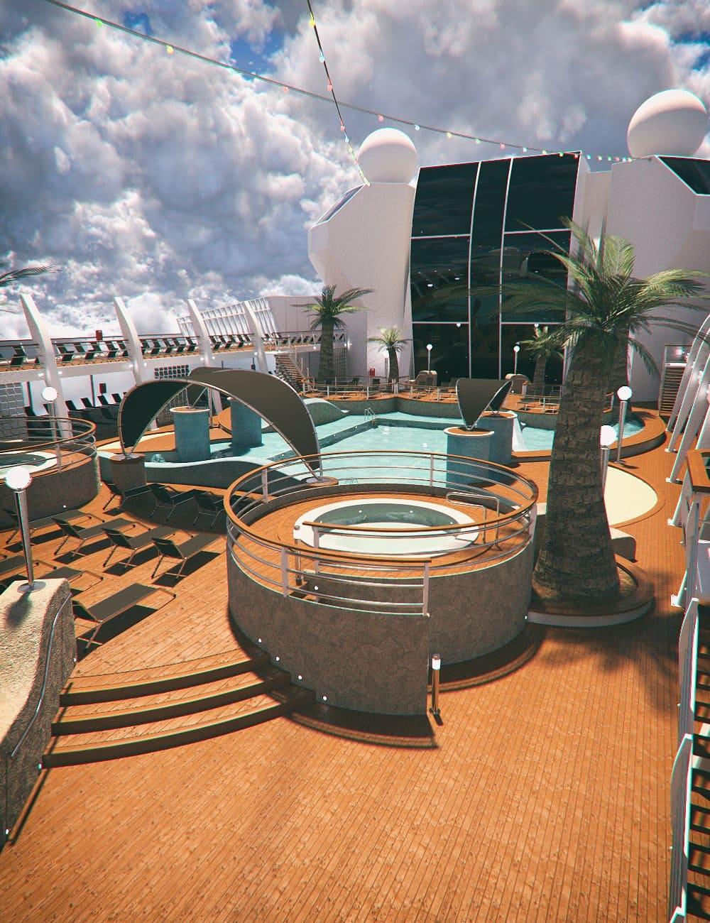 Cruise Ship Pool Deck_DAZ3D下载站