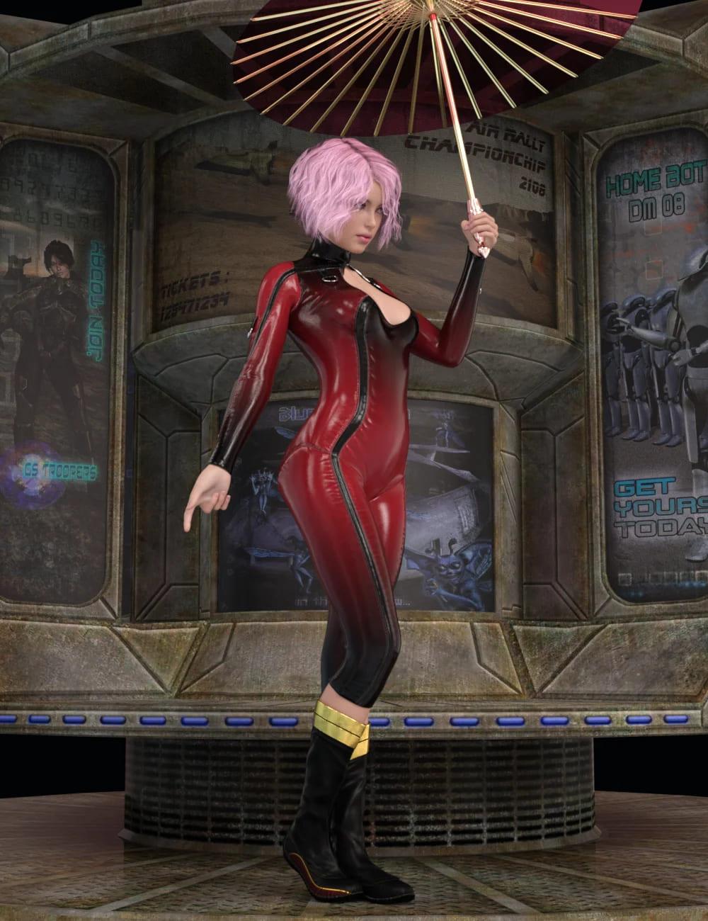 Umbrella Poses For Genesis 8 Female_DAZ3D下载站