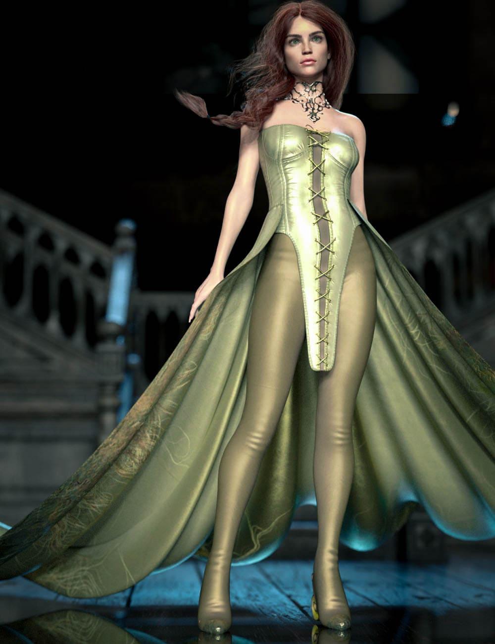 CB Sophia dForce Clothing Set for Genesis 8 and 8.1 Females_DAZ3D下载站