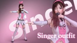 Singer outfit for G8F_DAZ3D下载站