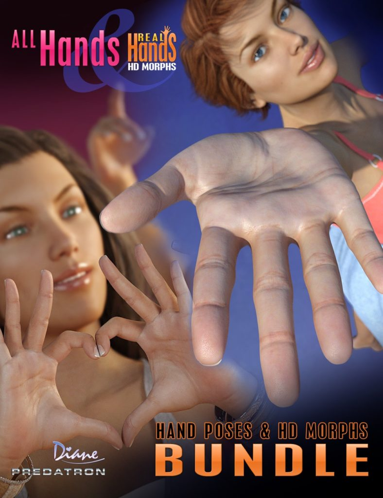 All Hands and Real Hands HD Bundle_DAZ3D下载站