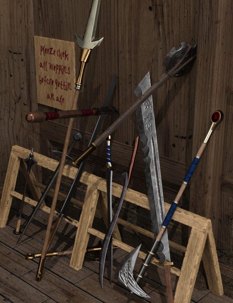 Armory of Five Realms Bundle_DAZ3D下载站