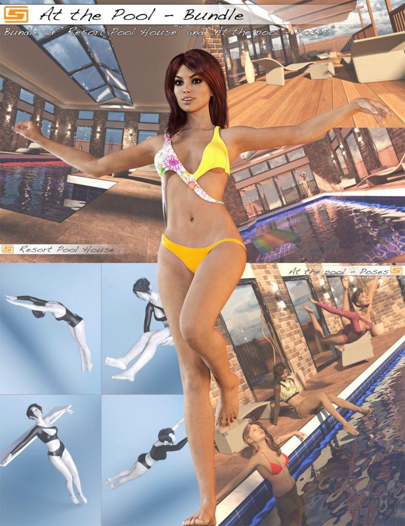At the Pool Bundle_DAZ3D下载站