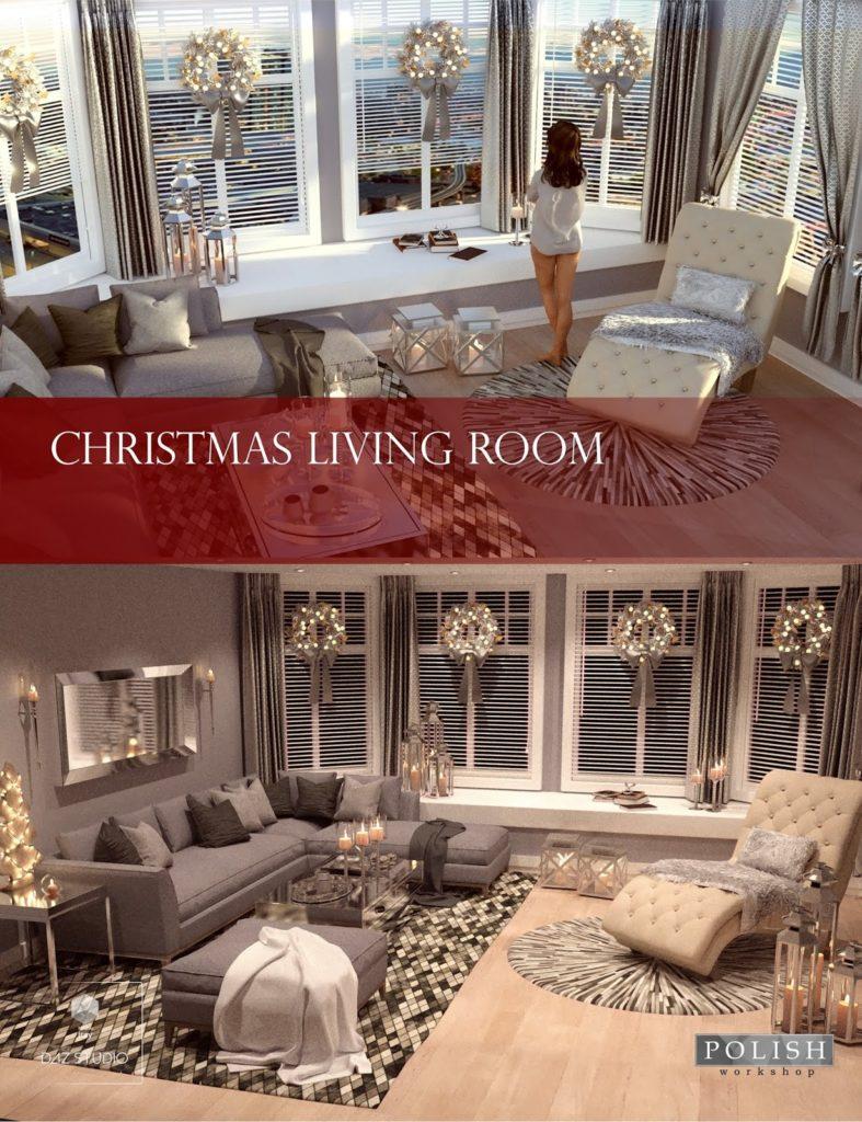 Christmas Living Room_DAZ3D下载站