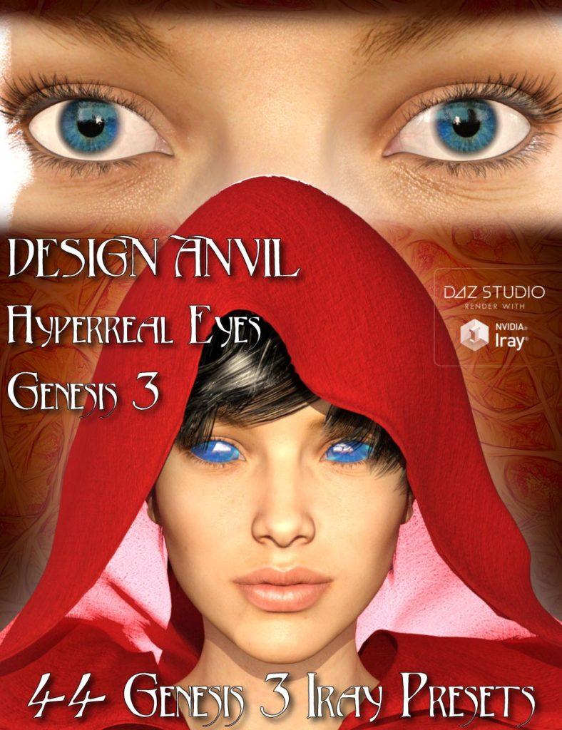 DA Hyperreal Eyes for Genesis 3 Female(s)_DAZ3D下载站