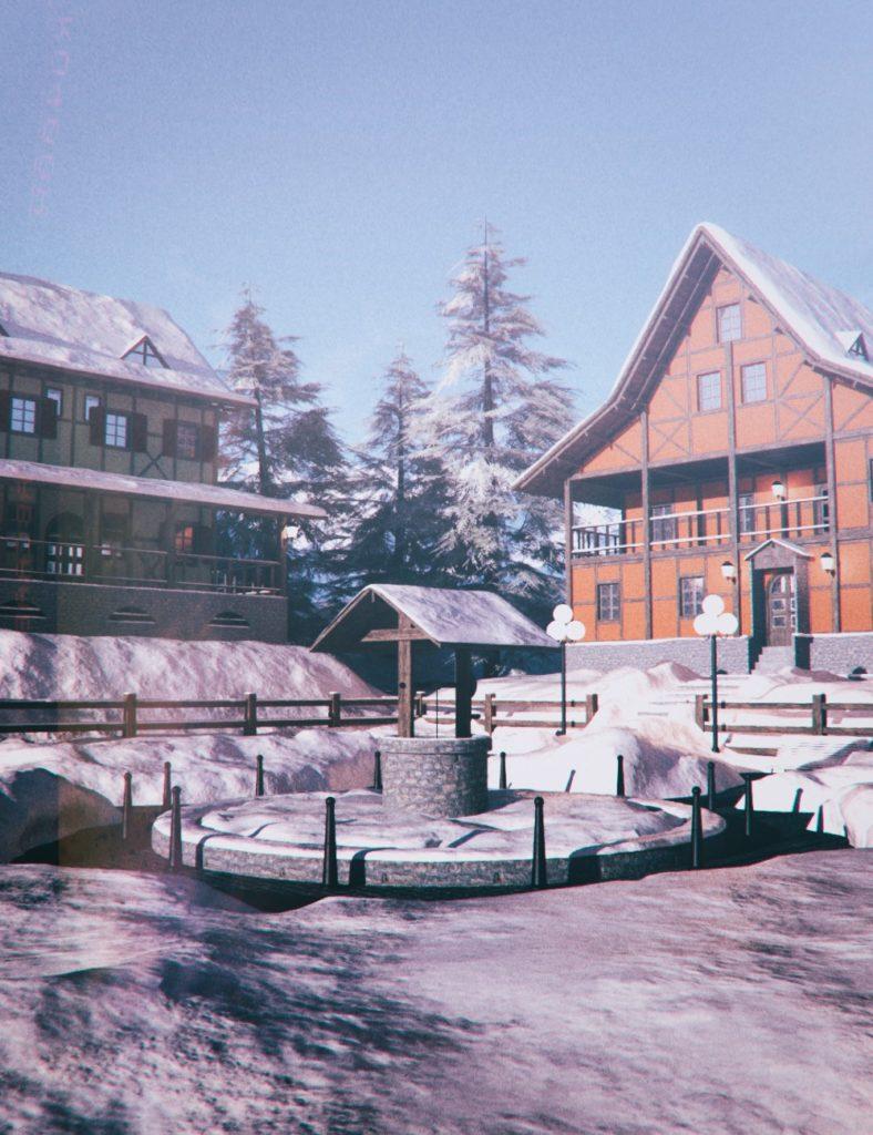 Northern Winter Village_DAZ3D下载站