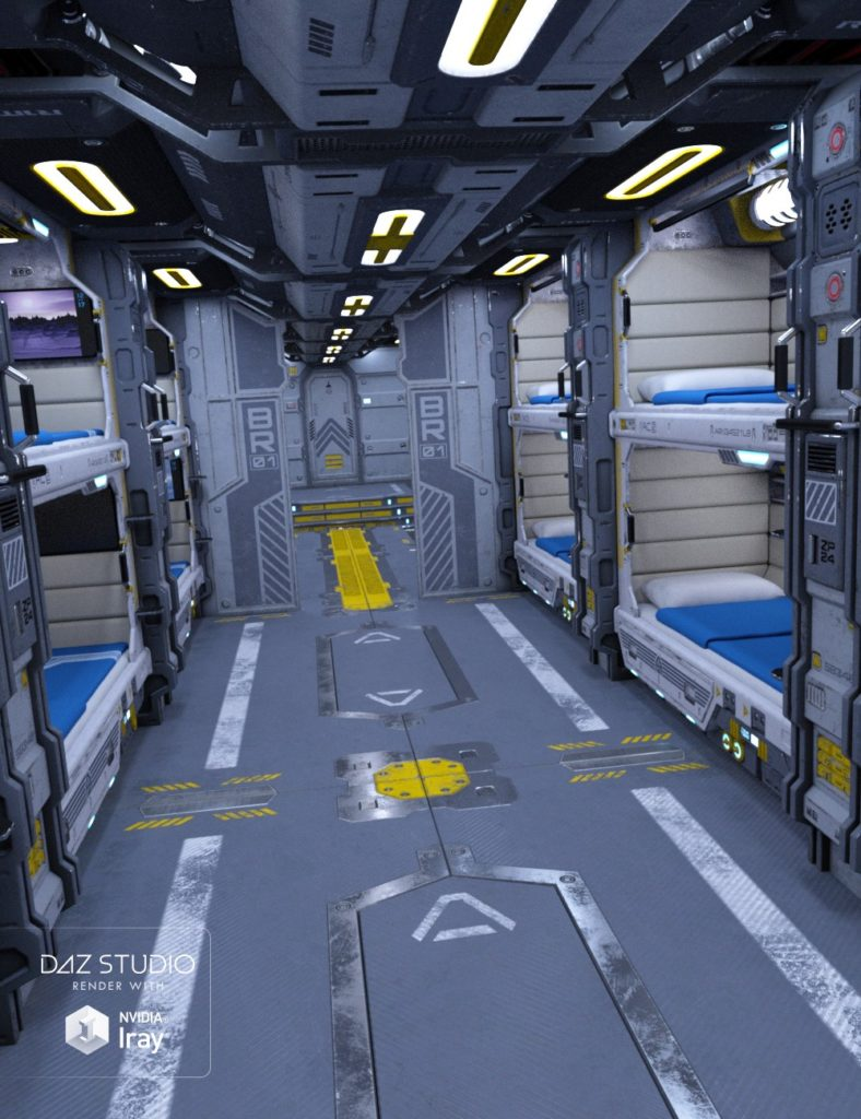 Psi Barracks_DAZ3D下载站
