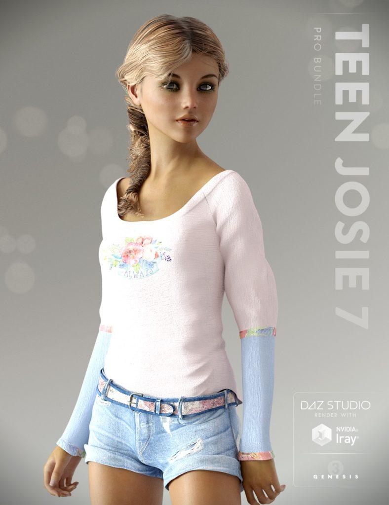 Teen Josie 7 Pro Bundle_DAZ3D下载站
