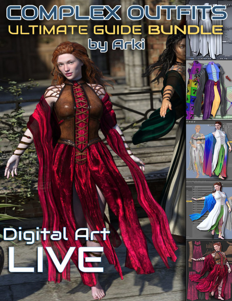 The Ultimate Guide to Creating Complex Outfits Bundle_DAZ3D下载站