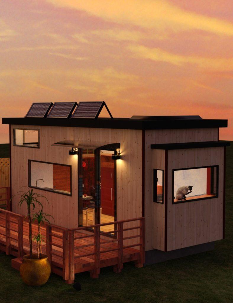 Tiny House and Deck_DAZ3D下载站