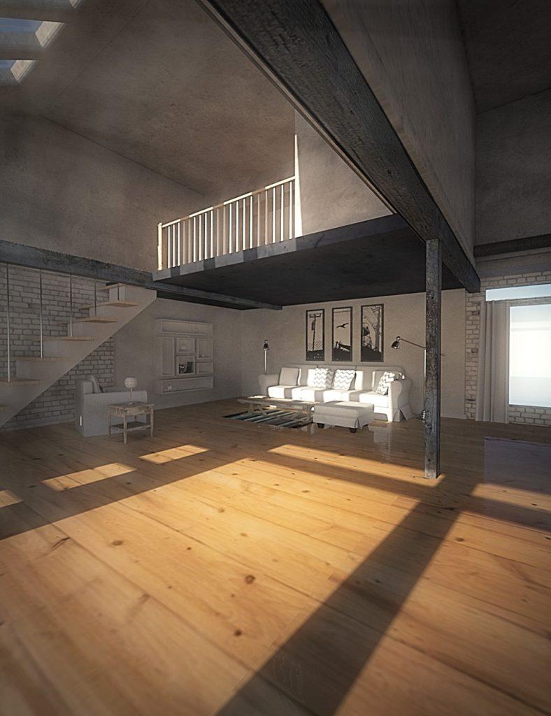 A Bright Loft_DAZ3D下载站