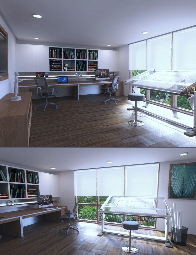 Architect Office_DAZ3D下载站