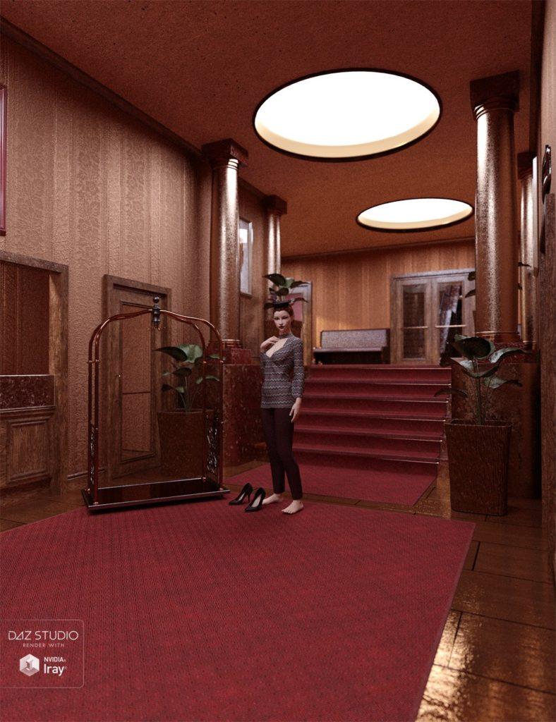 Art Deco Hotel Lobby_DAZ3D下载站