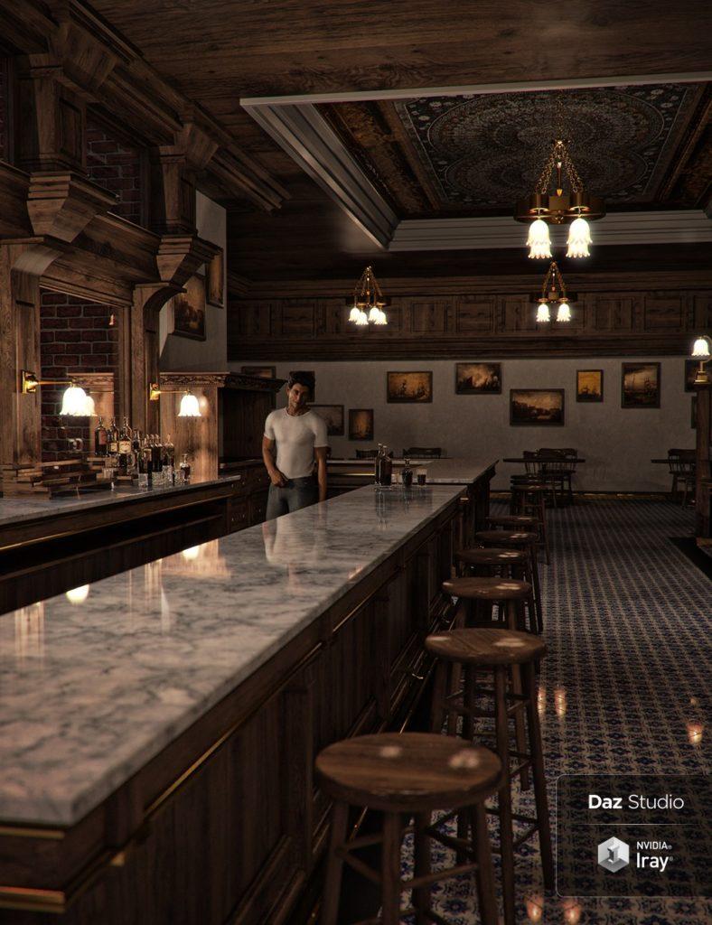 Bar Interior 2018_DAZ3D下载站