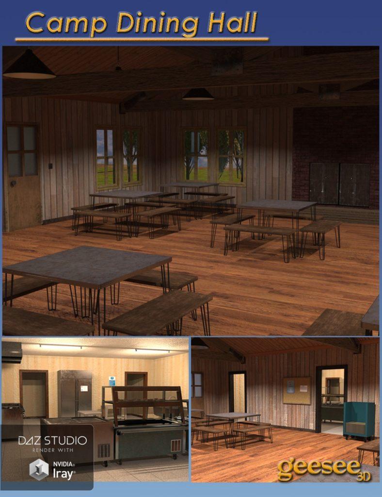 Camp Dining Hall_DAZ3D下载站