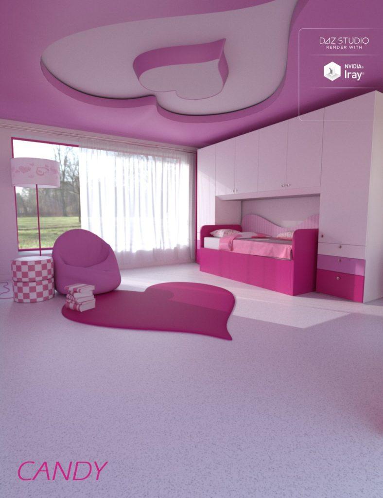 Candy Bedroom_DAZ3D下载站