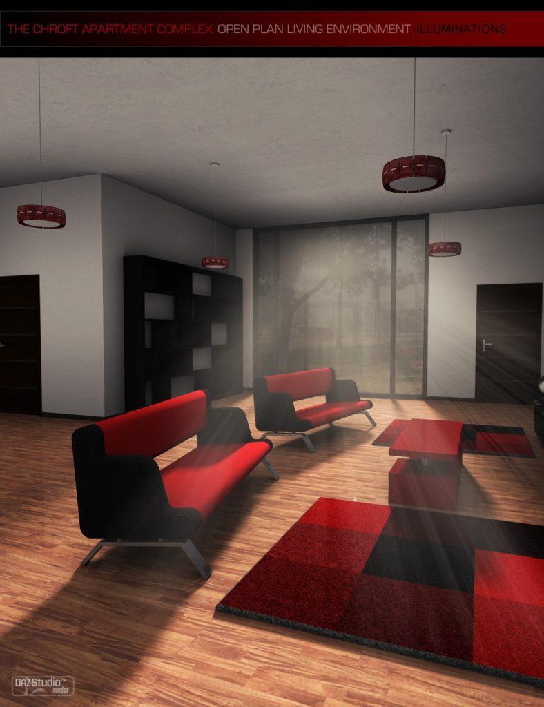 Chroft Apartment Complex Illuminations Kit_DAZ3D下载站