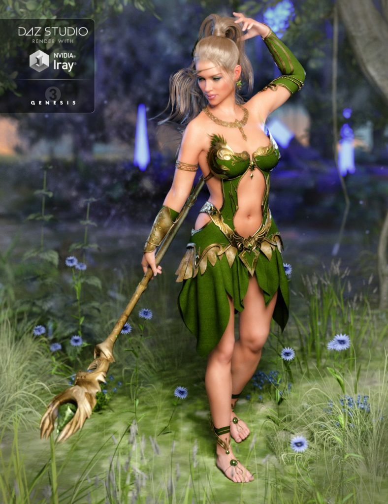 Circe Outfit for Genesis 3 Female(s)_DAZ3D下载站