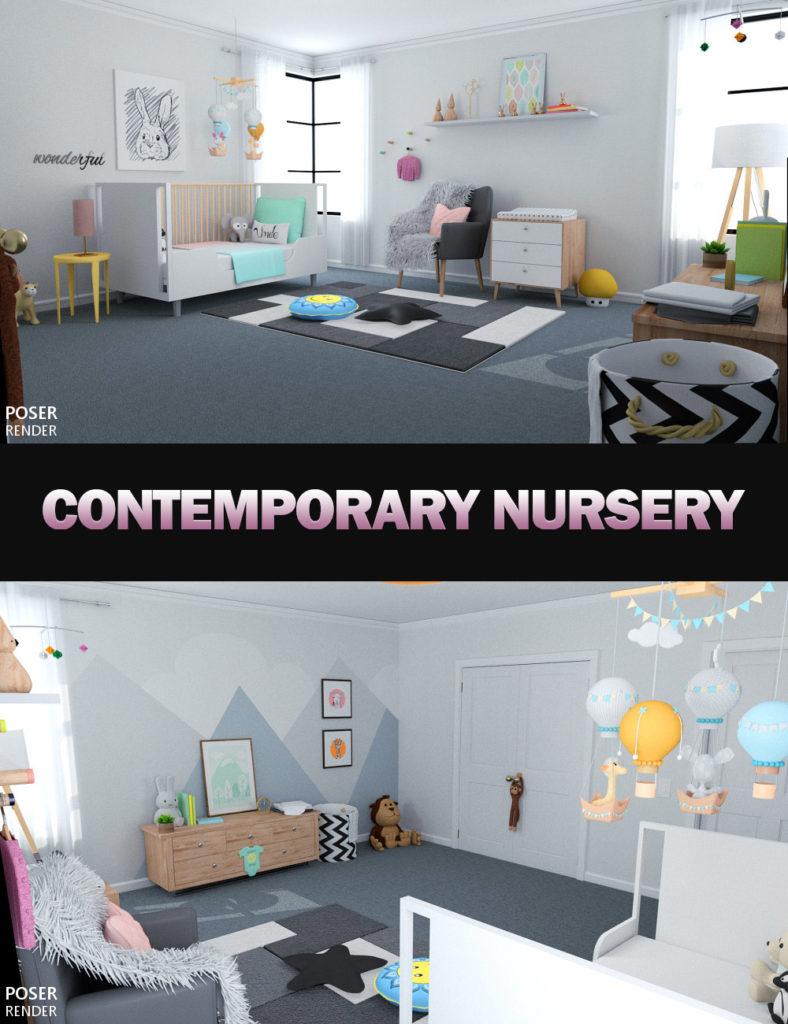 Contemporary Nursery_DAZ3D下载站
