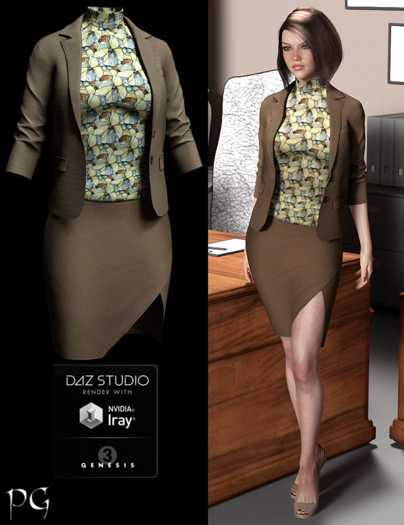 Cosmopolitan Outfit for G3F_DAZ3D下载站
