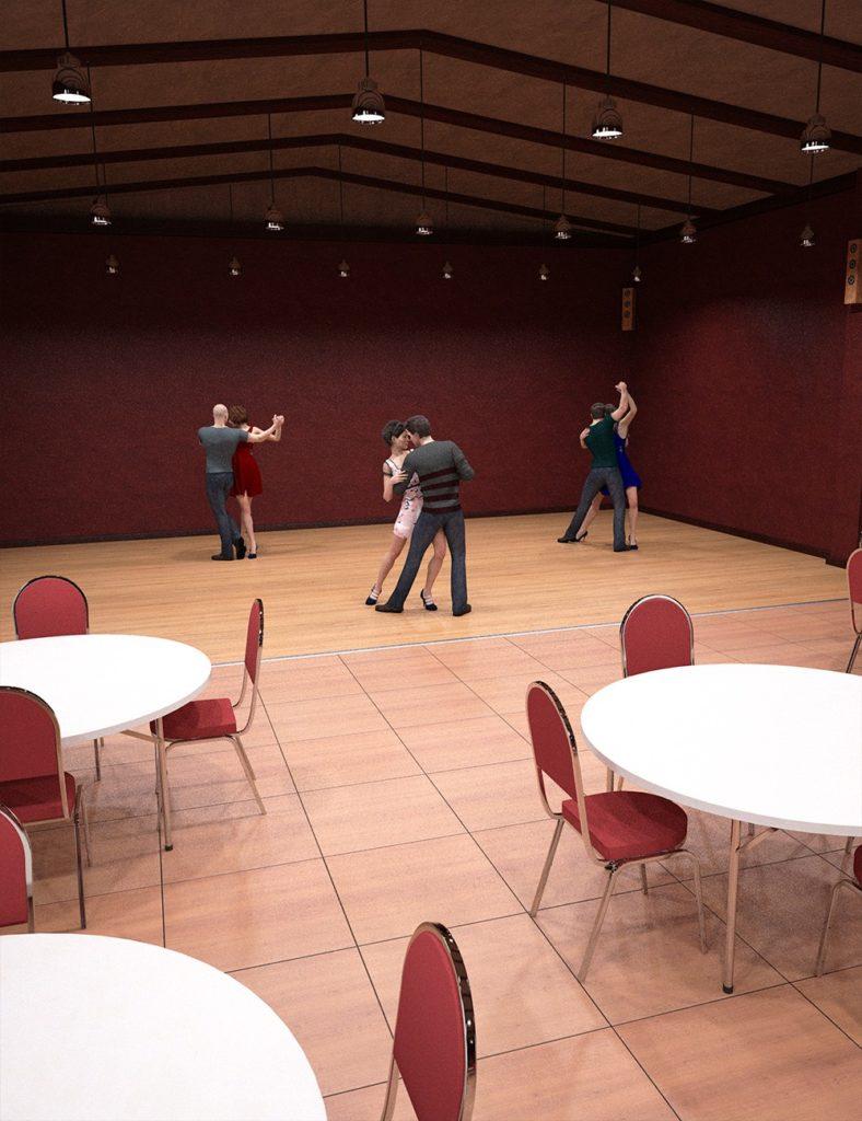 Dance Party Room_DAZ3D下载站