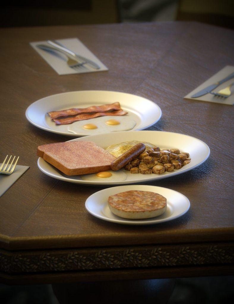 Diner Food 1_DAZ3D下载站