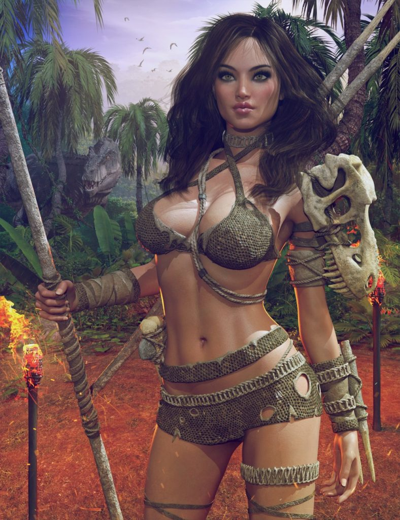 Dinosaur Queen Outfit for Genesis 8 Female(s)_DAZ3D下载站
