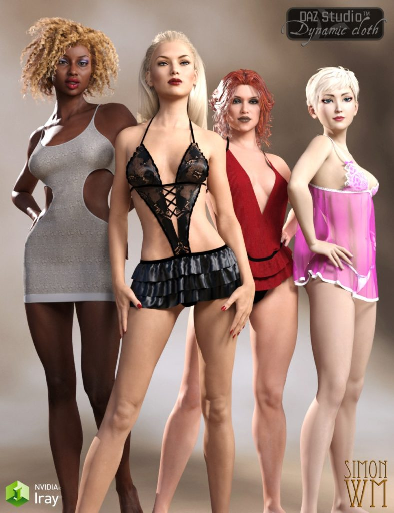 Dynamic Lingerie Collection for Genesis 3 Female & Victoria 7_DAZ3D下载站