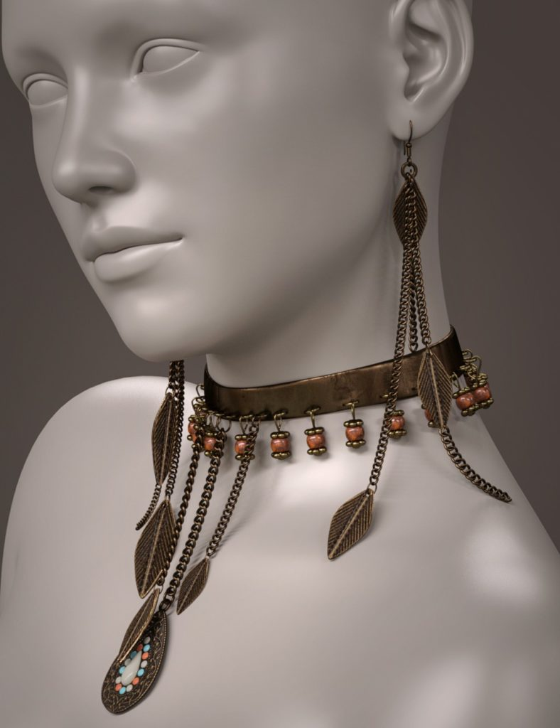 ES Pepper Jewelry for Genesis 3 and 8 Female(s)_DAZ3D下载站
