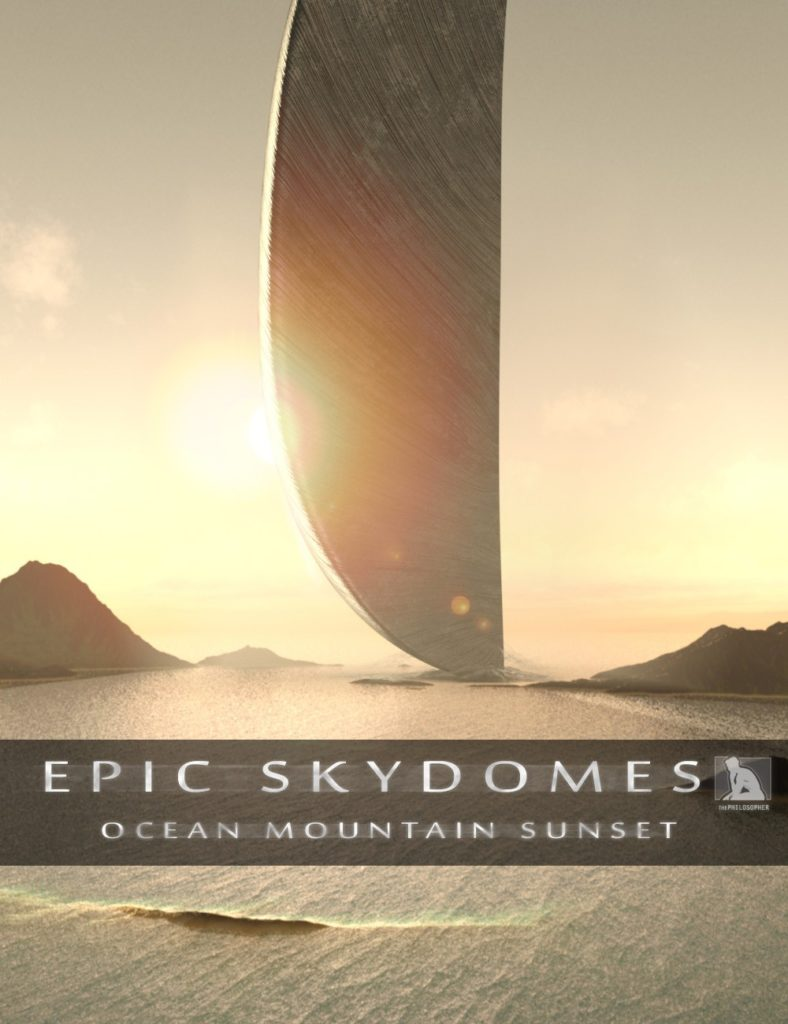 Epic Skydomes – Ocean Mountain Sunset HDRI_DAZ3D下载站