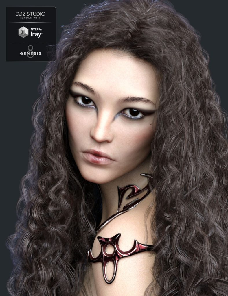 Fan Ling HD for Genesis 8 Female_DAZ3D下载站