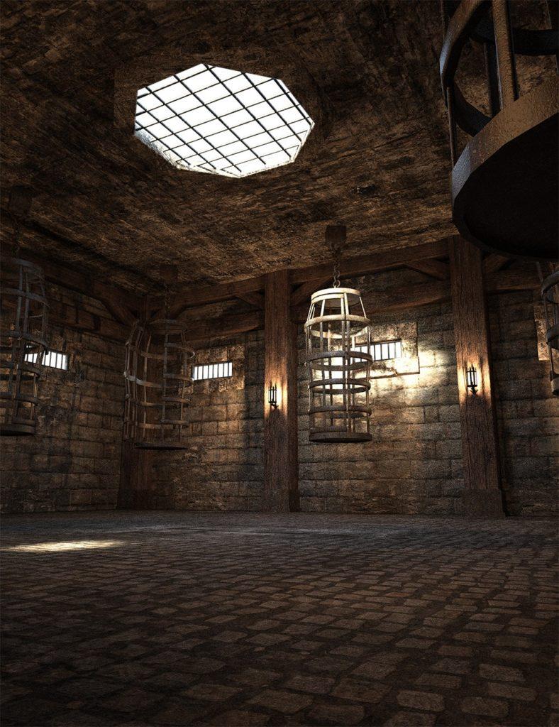 Fantasy Prison Cages_DAZ3D下载站