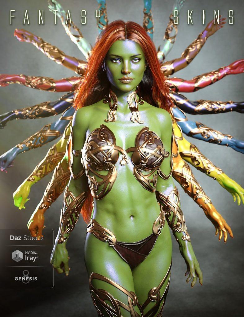 Fantasy Skins for Genesis 8 and Genesis 3 Characters_DAZ3D下载站