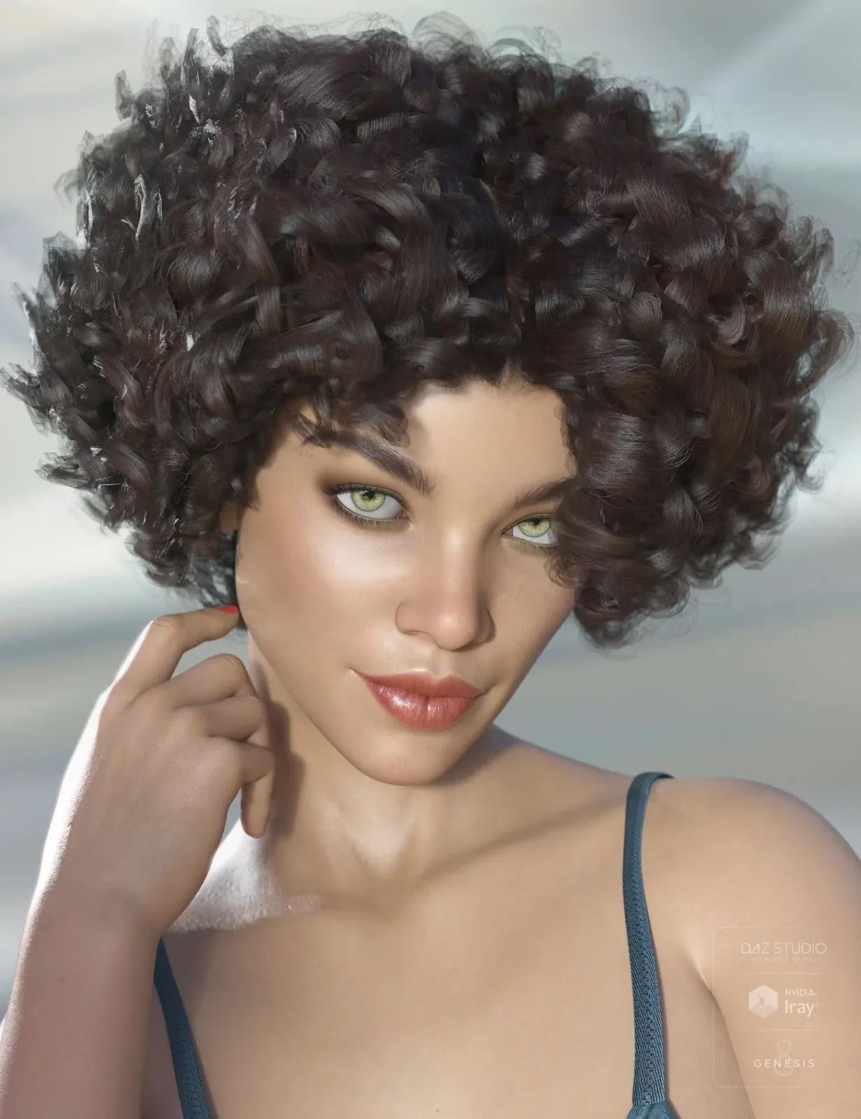 Gizelle Hair for Genesis 3 & 8 Female(s)_DAZ3D下载站