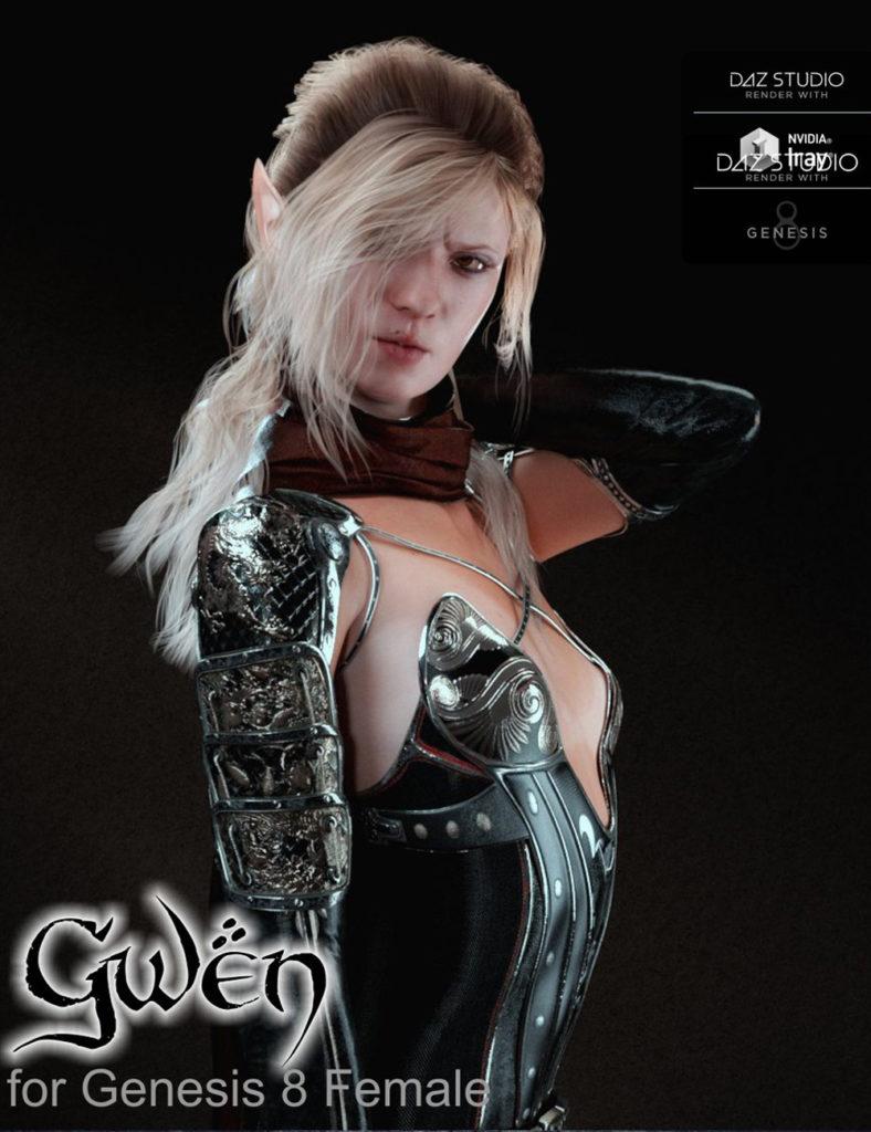 Gwen for Genesis 8 Female_DAZ3D下载站