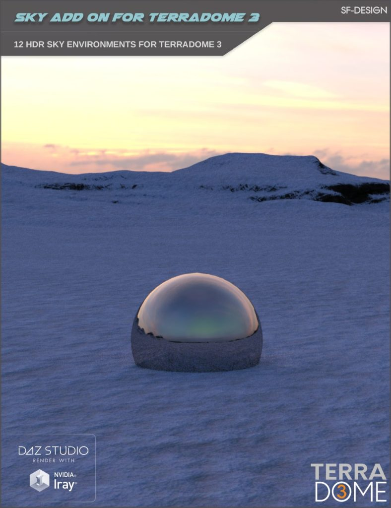 HDR Iray Sky Add On for TerraDome 3_DAZ3D下载站