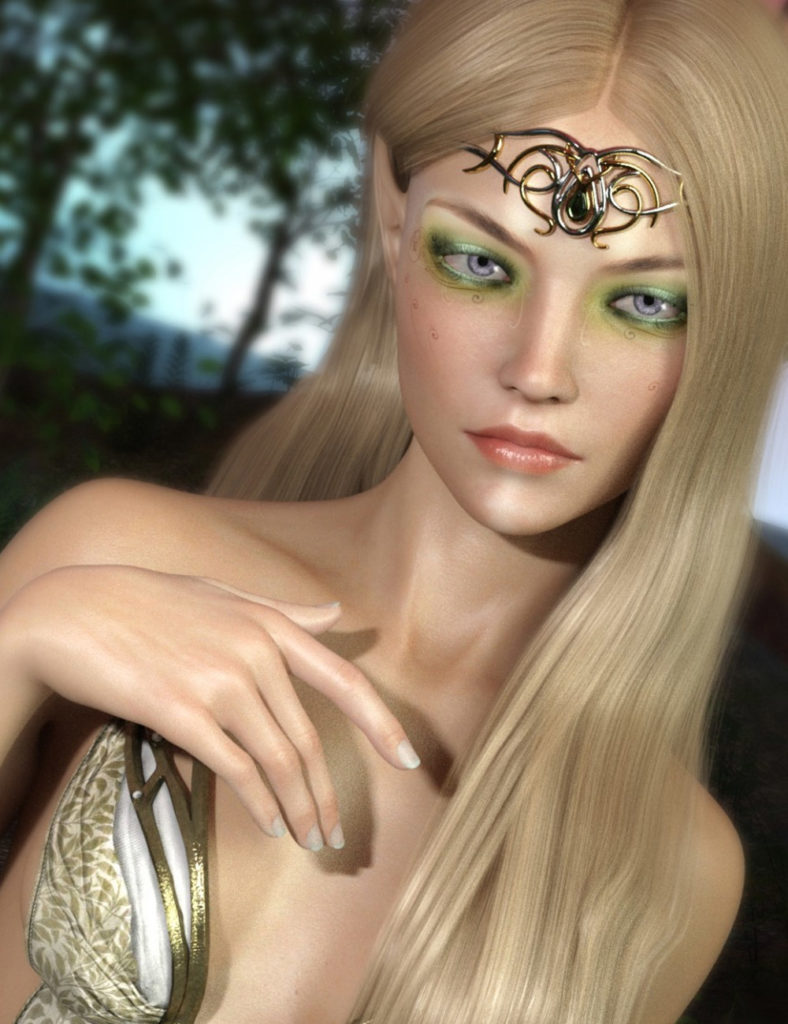 HP Luthril for Genesis 8 Female(s)_DAZ3D下载站