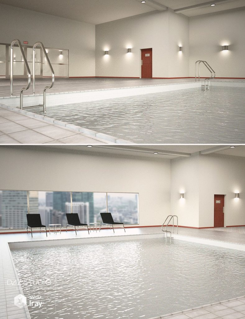 Hotel Indoor Pool_DAZ3D下载站