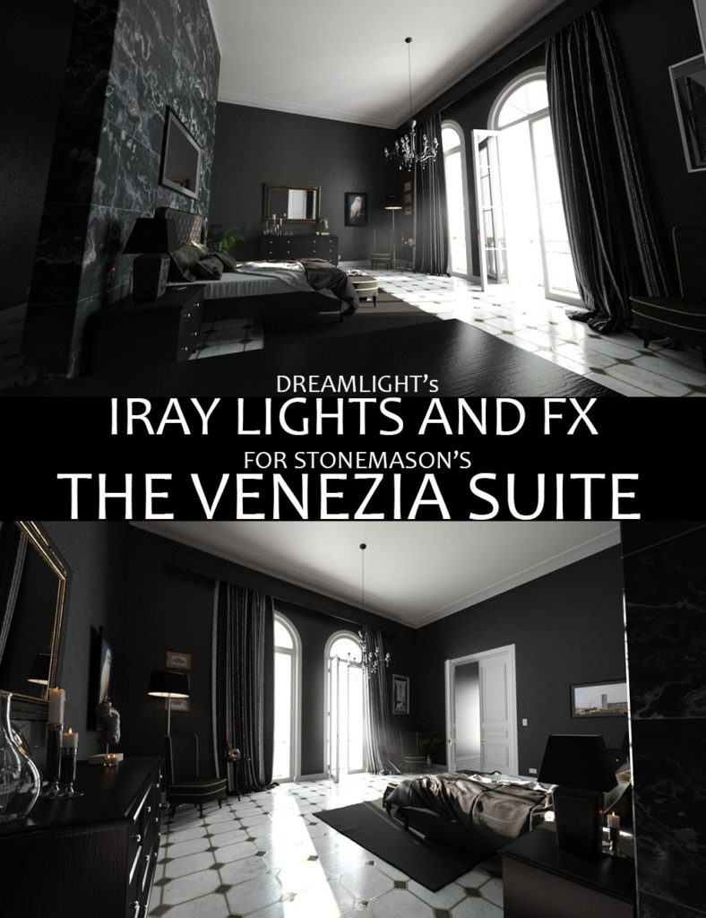 Iray Lights and FX for The Venezia Suite_DAZ3D下载站
